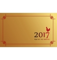 Chinese New Year of greeting card vector image vector image