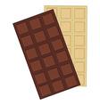Chocolate bar white and dark vector image