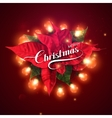 Christmas Lights Holiday vector image vector image