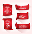 christmas parchment scroll set vector image vector image
