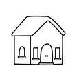 classic house home facade icon thick line vector image vector image
