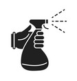 cleaning disinfection hand with spray bottle vector image vector image