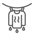 clothes drying line icon laundry and housekeeping vector image vector image