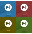color set Play button web icon flat design vector image