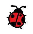 cute ladybug drawing isolated icon vector image