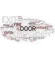 exit word cloud concept vector image vector image