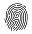 fingerprint security image fingertip mark vector image vector image