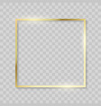 gold frame realistic golden texture borders shiny vector image vector image