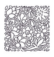 graphic template tropical exotic flower summer vector image