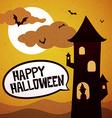 Happy Halloween tower vector image vector image