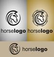 horse logo 2 vector image vector image
