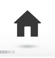 House flat Icon Sign House logo for web design vector image vector image