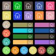 House icon sign Set from twenty seven multicolored vector image vector image