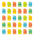 icon set of file extensions vector image vector image
