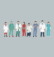 indian medics medical characters doctor and vector image vector image