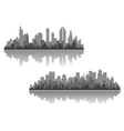 Modern cityscapes designs vector image vector image