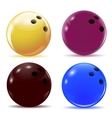 Multi-colored bowling balls Isolated objects with vector image