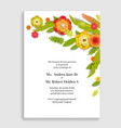 natura holiday flowers card vector image vector image
