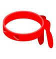 ninja red band icon isometric style vector image vector image
