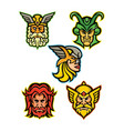 norse gods mascot collection vector image