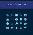 object sport flat style design icon set vector image vector image
