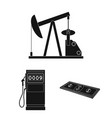 oil industry black icons in set collection for vector image