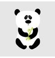 panda babear cute cartoon character holding vector image