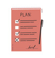 plan or to do list concept with hand drawn text vector image vector image