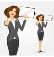 portrait of businesswoman with clipboard vector image vector image