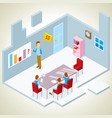 presentation in a meeting room isometric vector image