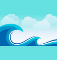 sea wave image background vector image