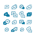 set of bubbles for speech icons vector image