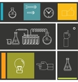 Set of flat design icon for experiment vector image vector image