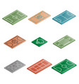 set of icons playgrounds in isometric vector image vector image