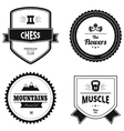 Set of retro logos vector image vector image