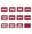 Shopping sign board vector image vector image