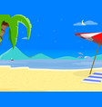 summer beach background and night time landscape vector image