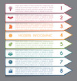 template infographic horizontal white strips on vector image vector image