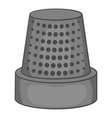 Thimble icon black monochrome style vector image vector image