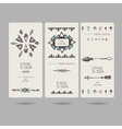 Tribal vintage ethnic banners or invitation cards vector image vector image
