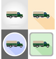 truck flat icons 13 vector image vector image