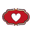 vintage heart label love valentines day related vector image vector image
