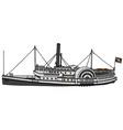 Vintage paddle steamer