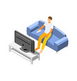 watching tv icon vector image
