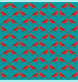 winter red birds pattern seamless vector image