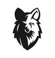 wolf head e sport mascot vector image vector image