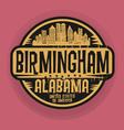 Birmingham Alabama stamp vector image