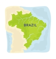 Territory of Brazil icon in cartoon style isolated vector image