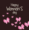 happy womens day card butterfly vector image