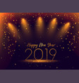 2019 new year celebration confetti background vector image vector image